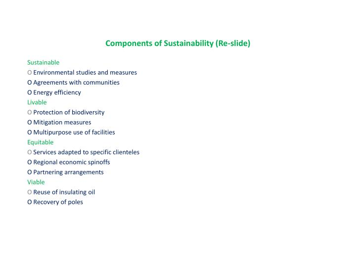 Components of Sustainability (Re-slide)