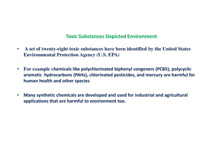 Toxic Substances Depicted Environment