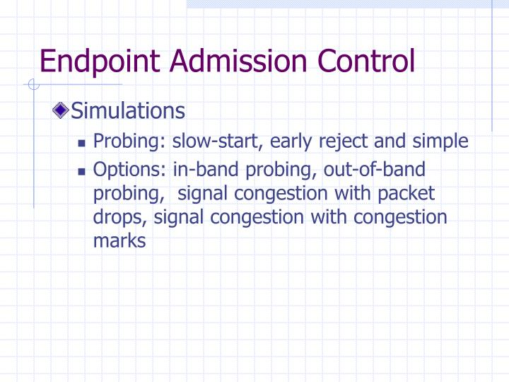 Endpoint Admission Control