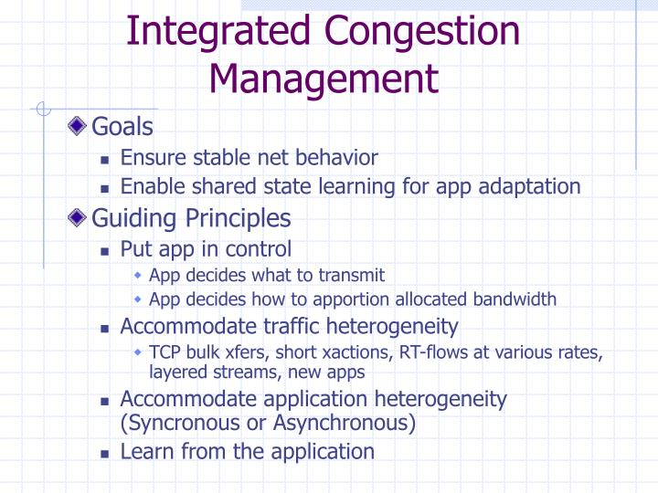 Integrated Congestion Management