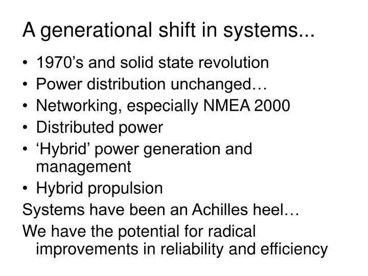 A generational shift in systems...