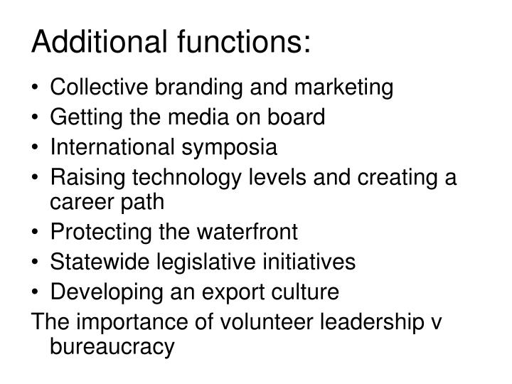 Additional functions: