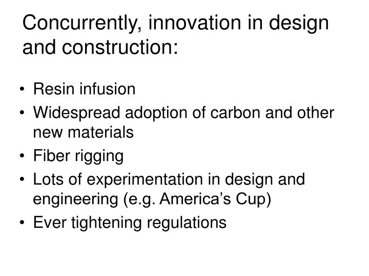 Concurrently, innovation in design and construction: