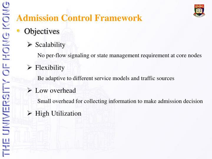 Admission Control Framework