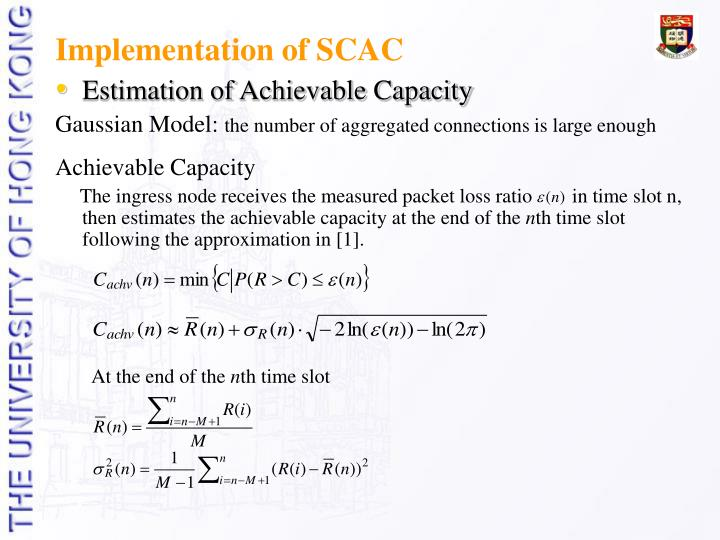 Implementation of SCAC