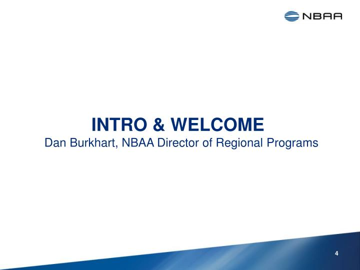 INTRO & WELCOME