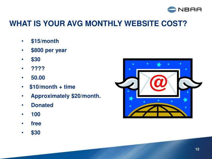 $15/month