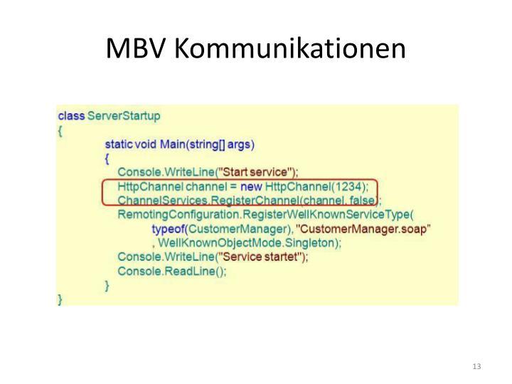 MBV Kommunikationen