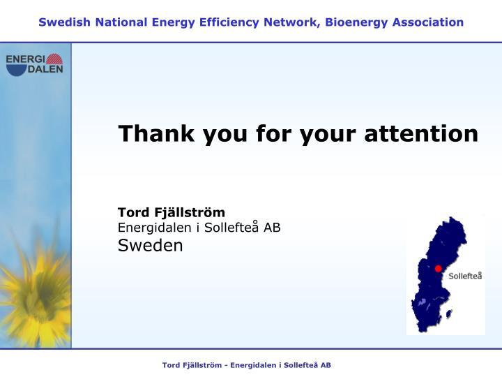 Swedish National Energy Efficiency Network, Bioenergy Association