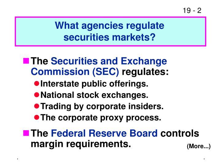 What agencies regulate