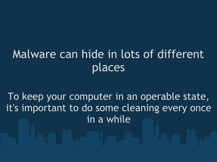 Malware can hide in lots of different places