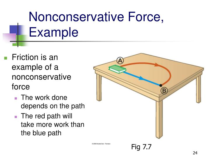 Nonconservative Force, Example