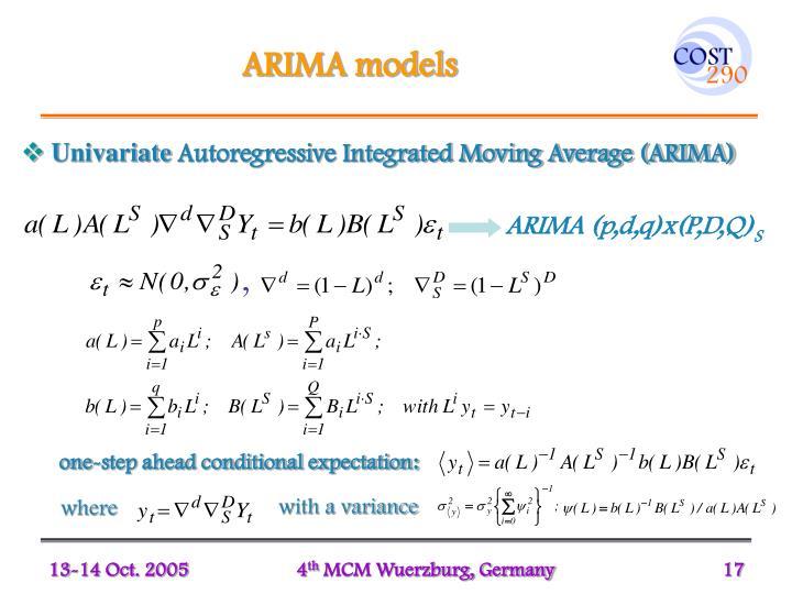 ARIMA models