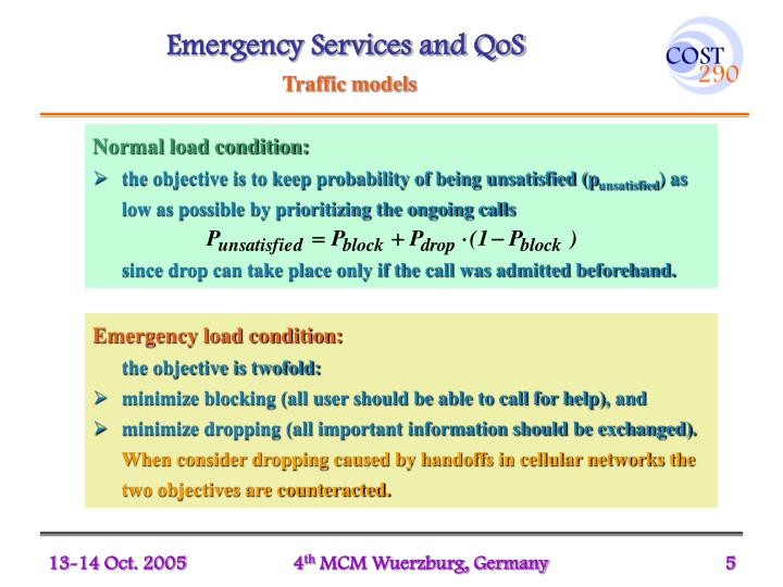 Emergency Services and QoS