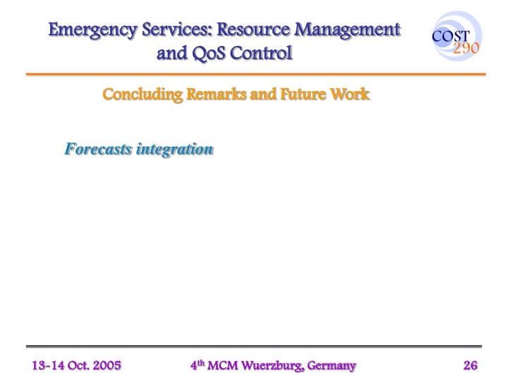 Emergency Services: Resource Management