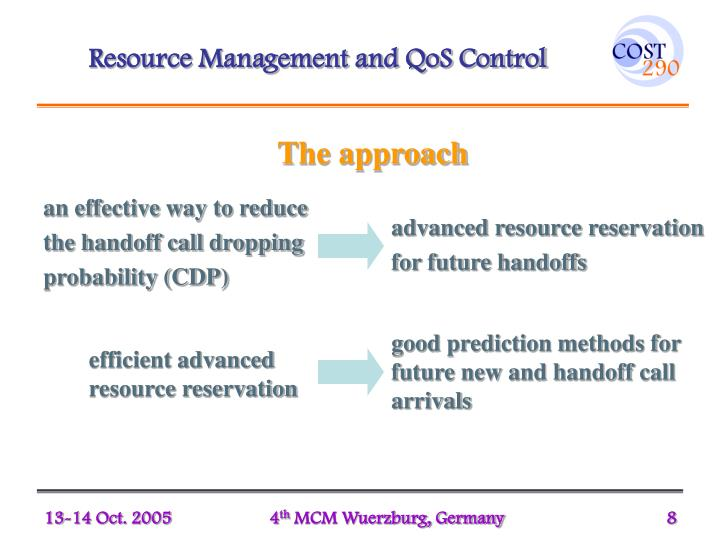 Resource Management and QoS Control