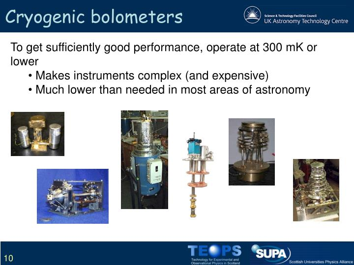 Cryogenic bolometers