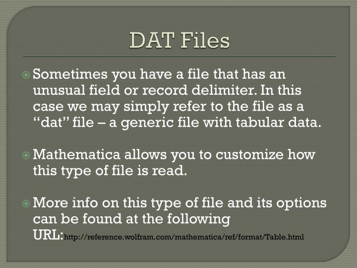 DAT Files