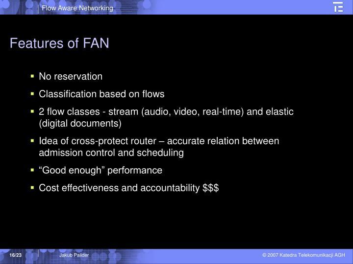 Features of FAN