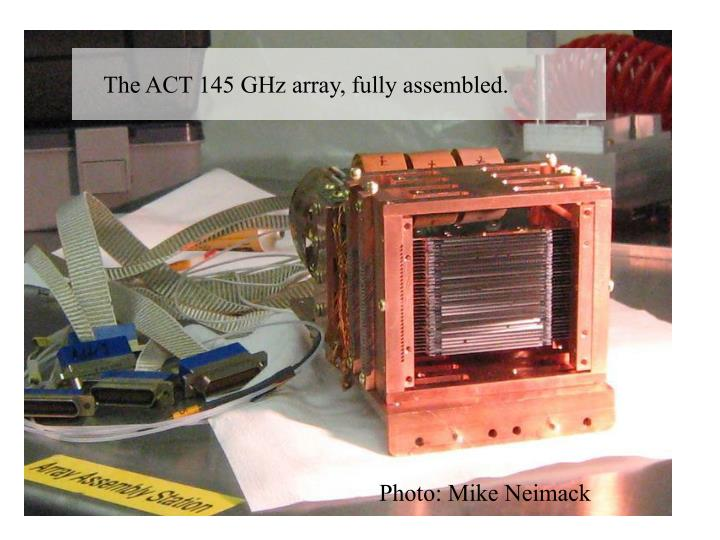 The ACT 145 GHz array, fully assembled.