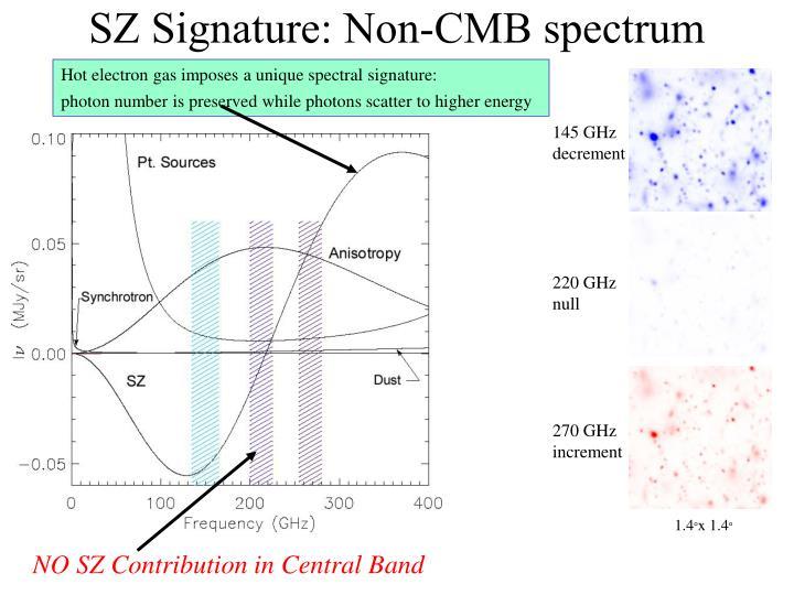 SZ Signature: Non-CMB spectrum