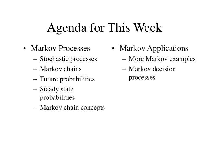 Markov Applications