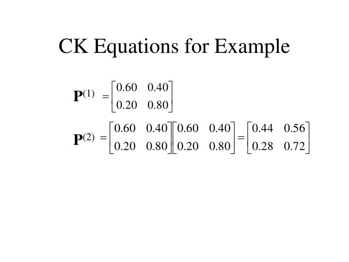 CK Equations for Example