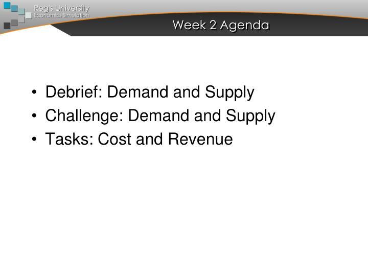 Week 2 Agenda