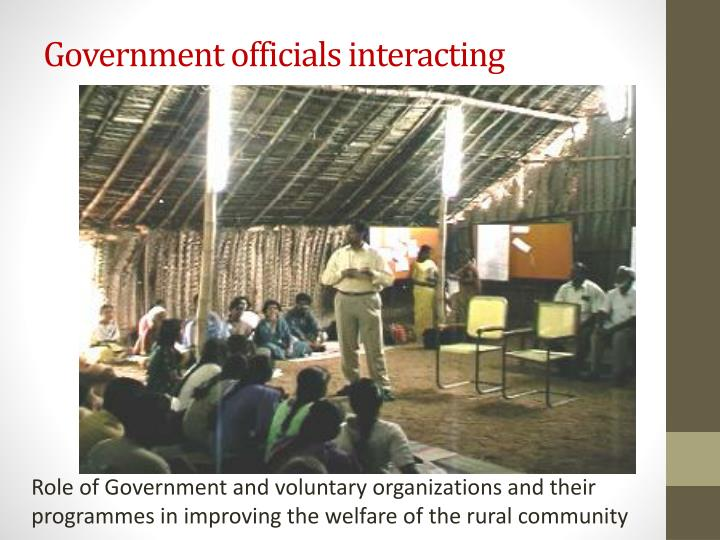 Government officials interacting