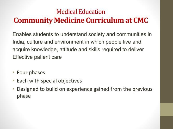 Medical Education
