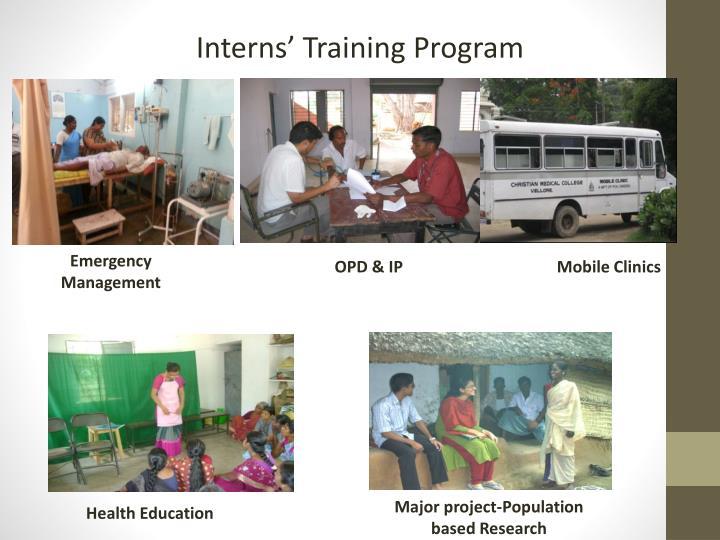 Interns' Training Program