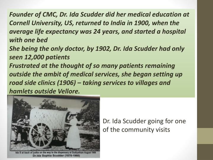 Founder of CMC, Dr