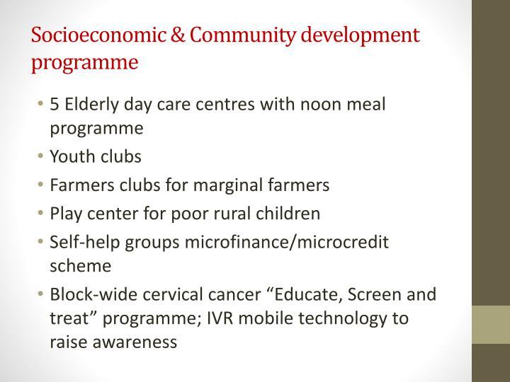 Socioeconomic & Community development programme