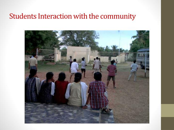 Students Interaction with the community