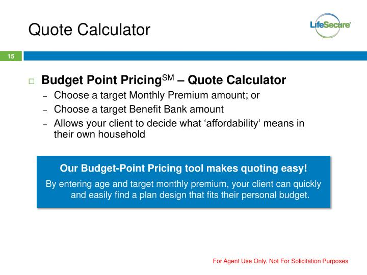 Quote Calculator