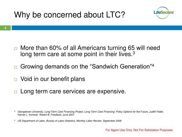 Why be concerned about LTC?