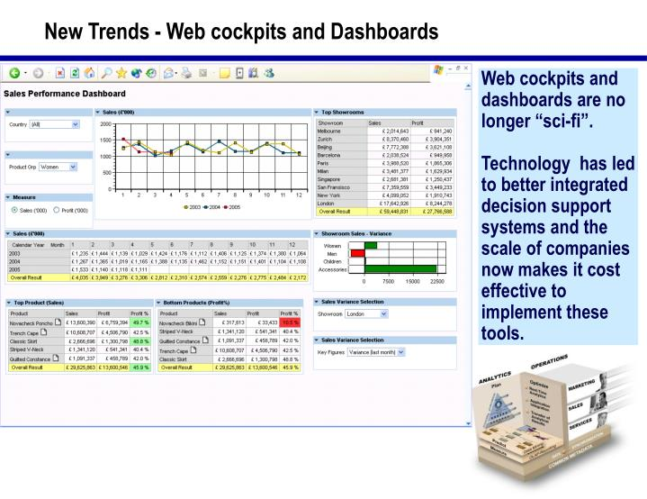 New Trends - Web cockpits and Dashboards