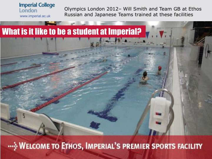 Olympics London 2012– Will Smith and Team GB at Ethos