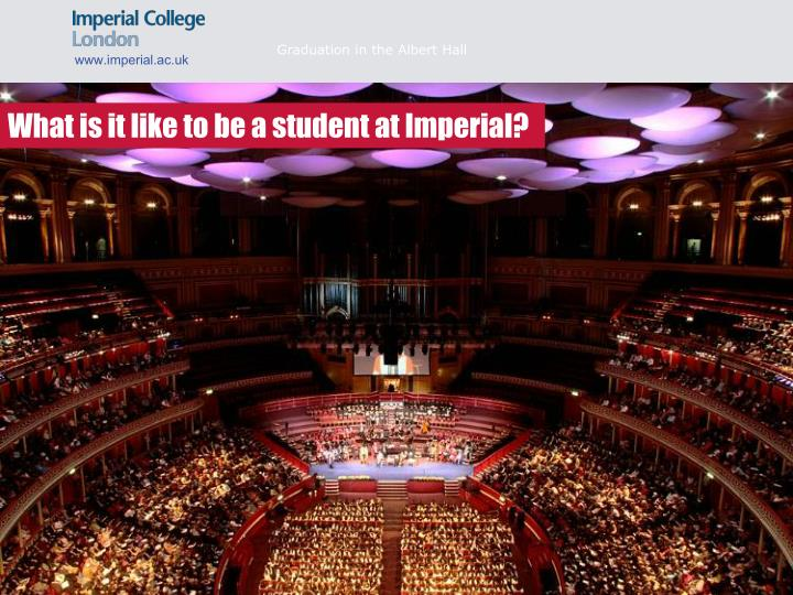Graduation in the Albert Hall