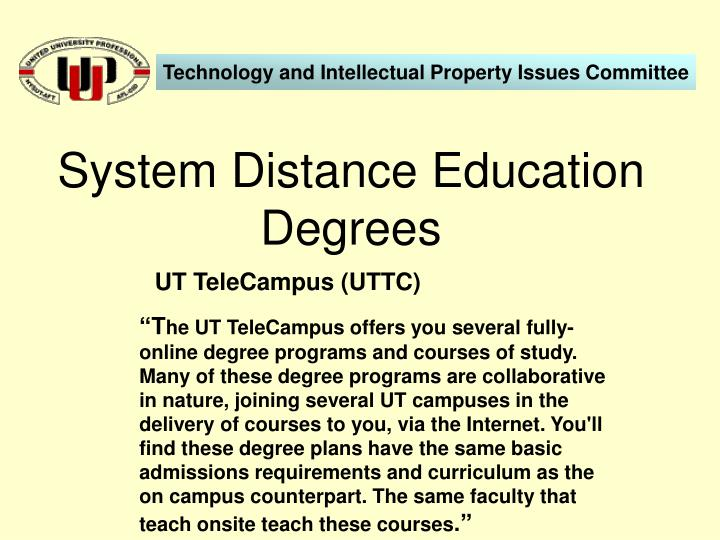 System Distance Education Degrees