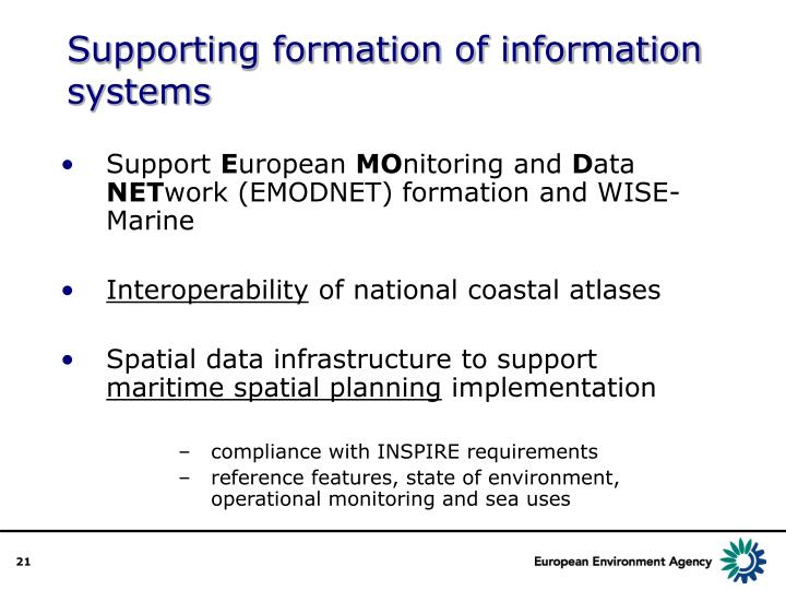 Supporting formation of information systems