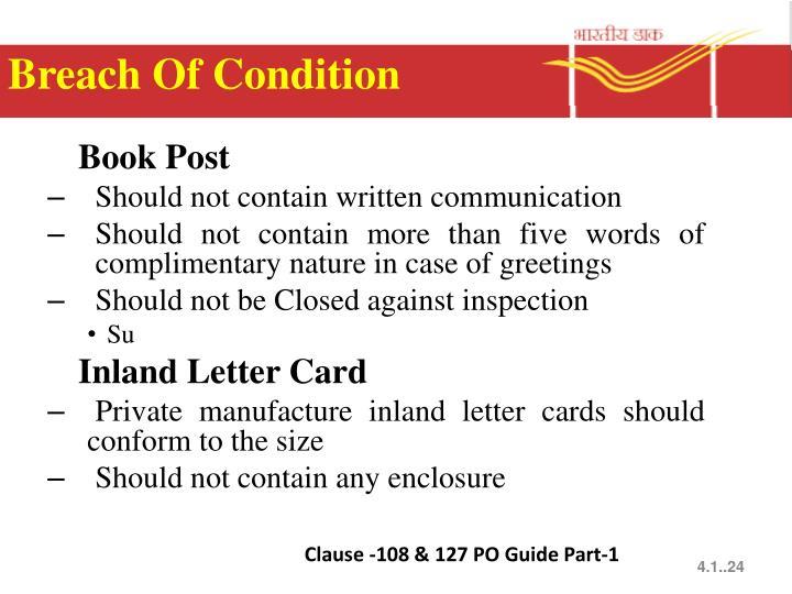 Breach Of Condition