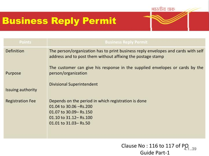 Business Reply Permit