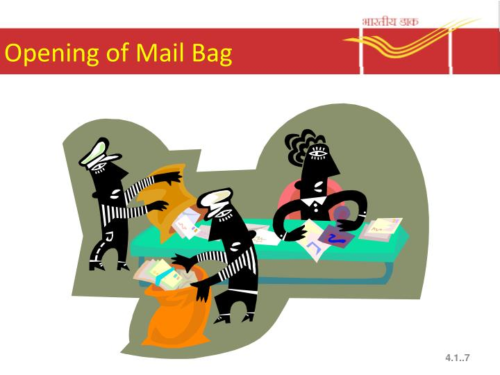 Opening of Mail Bag