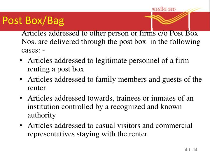 Post Box/Bag