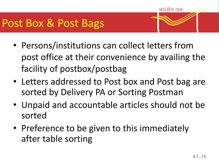 Post Box & Post Bags