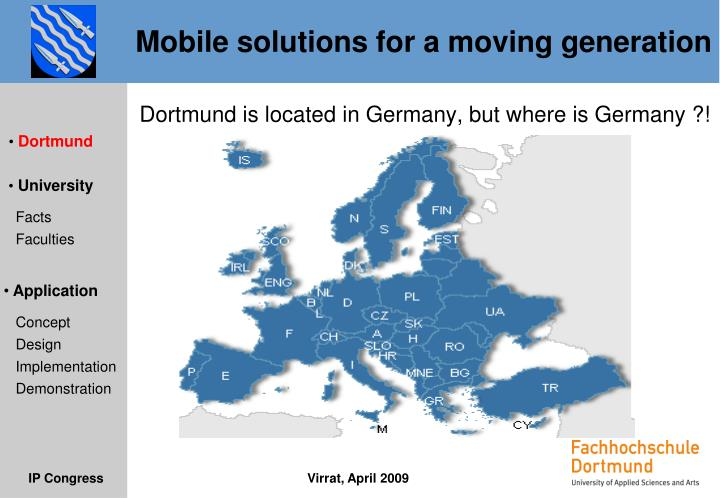 Dortmund is located in Germany, but where is Germany ?!