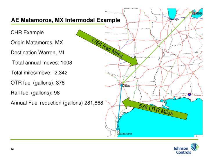 AE Matamoros, MX Intermodal Example