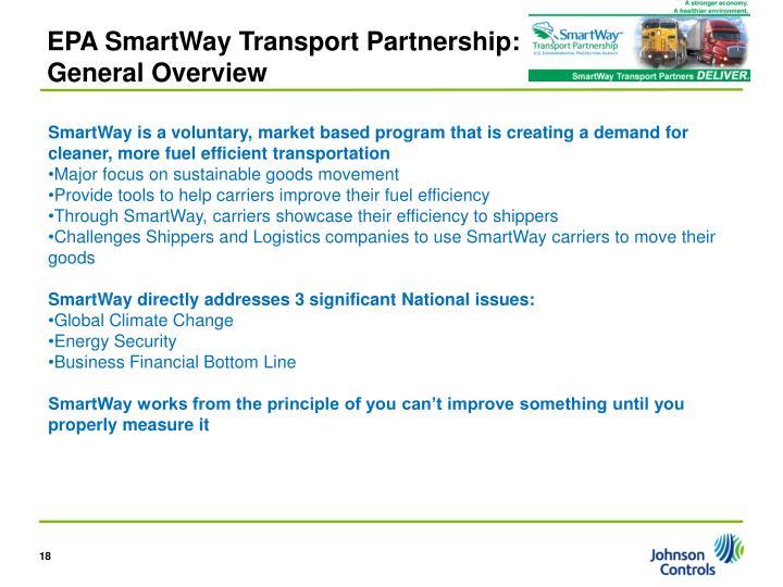 EPA SmartWay Transport Partnership: