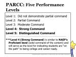 parcc five performance levels
